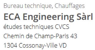 ECA Engineering Sàrl