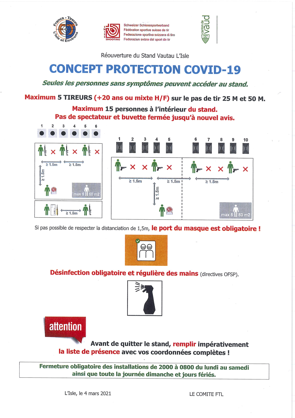 Directives stand COVID-19